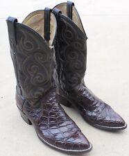 Vintage Dan Post Alligator Cowboy Western Boots Gator Size 9