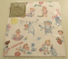 VINTAGE NORCROSS BABY WRAPPING PAPER, NWT