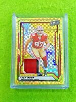 NICK BOSA GOLD PRIZM ROOKIE JERSEY CARD 5/5 SSP RC 49ers - 2019 The National VIP