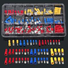 120Pcs Car Electrical Wire Terminals Insulated Crimp Connectors Spade Set Kit