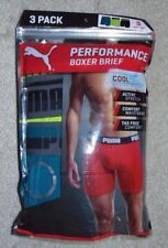 ~3 NEW Men's PUMA Cool Cell Boxer Briefs! Size Small 28-30 Nice FS~