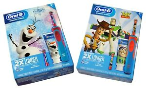 Set of 2 Oral-B Rechargeable Kids Toothbrush Kit Disney from Frozen & Toy Story