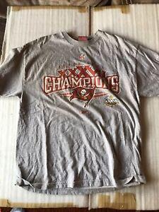 Vintage 2002 Tampa Bay Buccaneers SuperBowl Champions Long Sleeve shirt gray LG