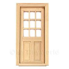 Maison de poupées miniature 9 panneau vitré bois porte