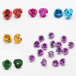 1 Bag Aluminum 3D Rose Flower Tiny Metal Beads 6x4.5mm Hole 1mm about 920~950pcs