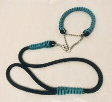 Custom Made Cobra Paracord Martingale dog collar And Matching Lead