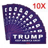 10pc Donald Trump for President 2020 Keep America Great Again Car Bumper Sticker