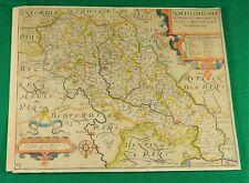 ORIGINAL c1637 HANDCOLORED MAP-NORTHHAMPTON