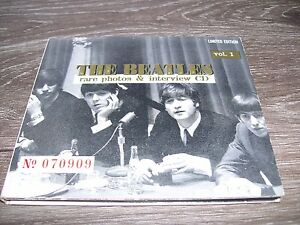 The Beatles - Rare Photo & Interview CD Vol. 1 * LIMITED EDITION CD UK  USA 1995