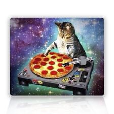 MOUSE MAT 113 Space Cat and Pizza Rectangle Non-Slip Rubber Mouse Pad Mousepad