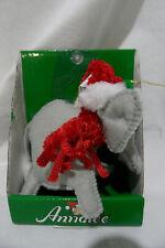 """ANNALEE Cozy Christmas Elephant 4"""" Christmas ornament #701112 NIB"""