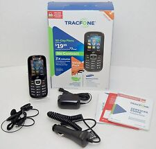 NEW Samsung S150G Tracfone Prepaid BLACK Large Button Cell Phone Set