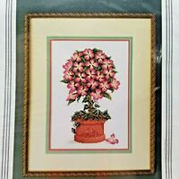 Counted Cross Stitch Kit Pink Dogwood Topiary StitchWorld 20-150