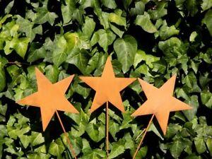 SET!!  Stern Roststern Weihnachtsstern Sterne Dekostab Advent Weihnachten Rost