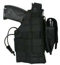 modular pistol holster molle black ambidextrous left or right rothco 10478