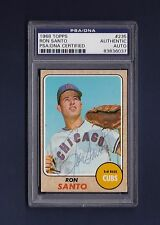 Ron Santo signed Chicago Cubs 1968 Topps baseball card Psa/Dna