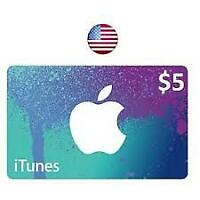 Apple -iTunes Gift-Card  $5 USA  Dollar iTune Redeem Fast_Email delivery
