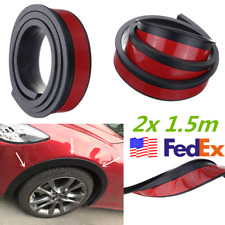 "2x 59"" Universal Car Wheel Fender Flares Trim Protection Strip Rubber Black USA"