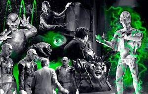 OUTER LIMITS TV show 1960 Poster Art Print Sci Fi mashup Scott Jackson