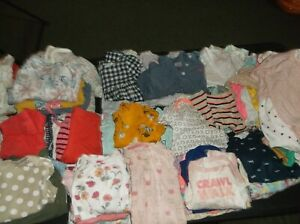 HUGE LOT!!!100 pieces Baby Girls Clothes Lot NB 0-3 months 3 months, perfect!!
