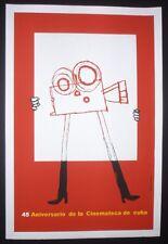 Original CUBAN Silk-screen Poster by Master Artist PONCE Saluting Cuba Movies