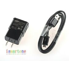 NEW OEM Genuine Samsung Micro USB Cable 2.0A Wall Charger for Galaxy S4 S3 Note2