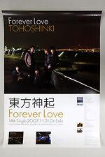 TOHOSHINKI - Forever Love (Japan Single) OFFICIAL POSTER *HARD TUBE CASE* TVXQ