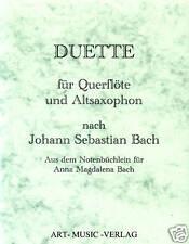 NOTEN DUETTE QUERFLÖTE & ALT-SAXOPHON  NACH J.S. BACH