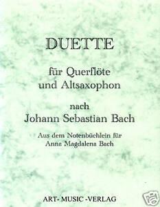 DUETTE QUERFLÖTE & ALT-SAXOPHON >J.S. BACH ( NOTEN )