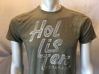 Hollister Spell Out Green Tee Men's Crew Neck Short Sleeve T Shirt  Size Medium