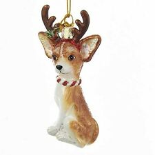 Chihuahua w/Antlers Noble Gems Glass Ornament