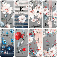 PERSONALISED FLORAL PHONE CASE WITH INITIALS NAME COVER FOR IPHONE 11 & XR