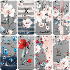 PERSONALISED FLORAL PHONE CASE WITH INITIALS NAME COVER FOR IPHONE 8 X XS MAX XR