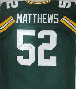 Packers CLAY MATTHEWS Signed Custom Replica Green Jersey AUTO - JSA