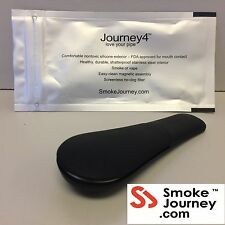 AUTHENTIC Journey 4 (TM) Pipe - Soft Black w/Air-Tight Pouch - Free Ship!