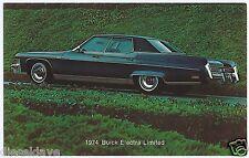 1974 Buick ELECTRA LIMITED 4Dr Hdtop Original Dealer Promotional Postcard UNUSED