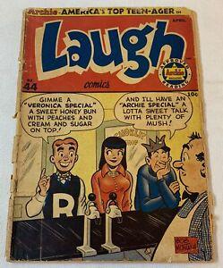 1951 Archie LAUGH COMICS #44 ~ missing centerfold plus 1 page