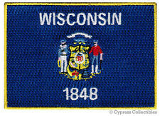 WISCONSIN STATE FLAG PATCH EMBROIDERED IRON-ON new APPLIQUE EMBLEM