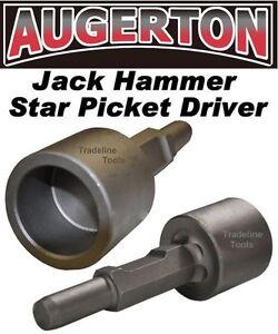 AUGERTON JACK HAMMER STAR PICKET FARM POST DRIVER CHISEL DEMOLITION JACKHAMMER