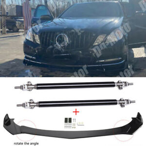 For Mercedes Benz E-Class E65 E63 E350 E400 For Front Lip Splitter + Stut Rods