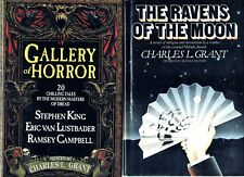 VINTAGE HORROR LOT~ GALLERY of HORROR ~ STEPHEN KING ~ CHARLES L.GRANT ~ EX COND