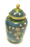 VINTAGE CLOISONNE CHINESE ENAMEL GINGER JAR- REDUCED