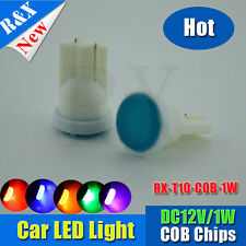 2x T10 LED blue COB Indicator Car Auto Van Dashboard Dash Wedge Side Light Lamp
