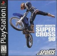Jeremy Mcgrath Supercross 98 For PlayStation 1 PS1 Racing Very Good 3E
