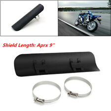 Motorcycle Steel Exhaust Muffler Pipe Heat Shield Cover Heel Guard Universal Kit