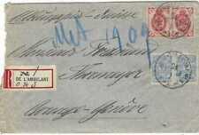Russia 1909 registered De L'Ambulant registered railway cancel cover to Switz