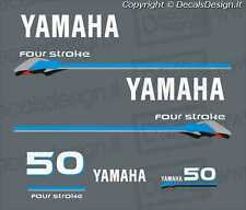 Adesivi motore marino fuoribordo Yamaha 50 cv four stroke gommone barca stickers