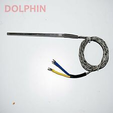 K-Type Thermocouple Sensor Probe 4 Inch 2 Meter Shielded Cable  Make - Dolphinh
