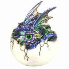 Kazon Hatchling Dragon Emerging From Egg Metallic Colour Scales Green + Purple