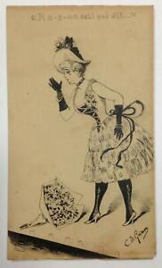 EARLY Paris MUSIC HALL Illustration ~ CONSTANTIN DE GRIMM ~ Signed ORIGINAL INK
